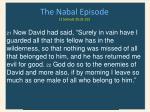 the nabal episode 1 samuel 25 21 22