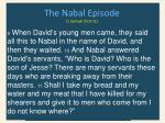 the nabal episode 1 samuel 25 9 11