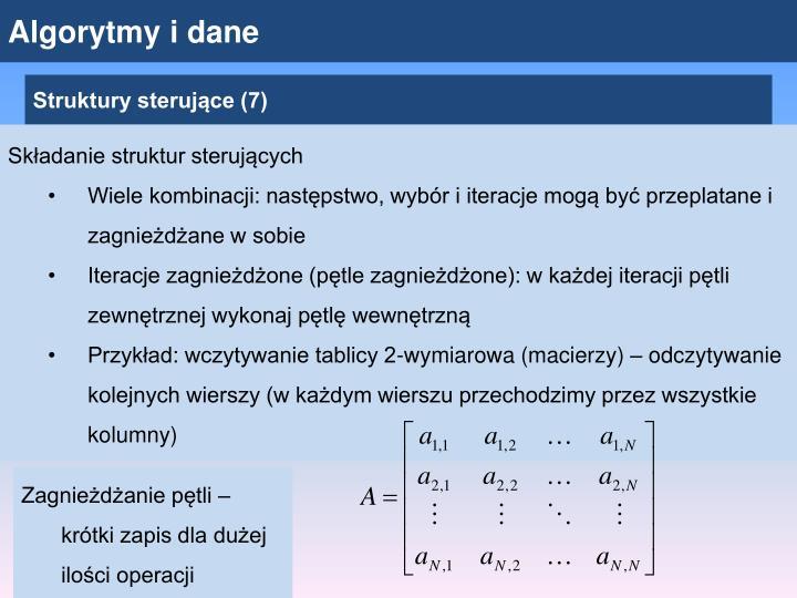 Algorytmy i dane