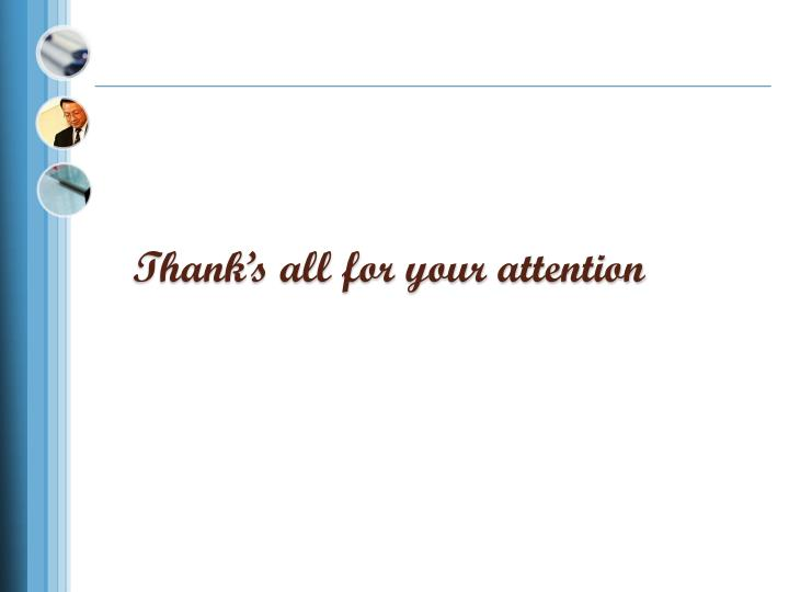 Thank's all for your attention