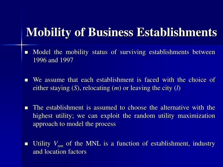 Mobility of Business Establishments
