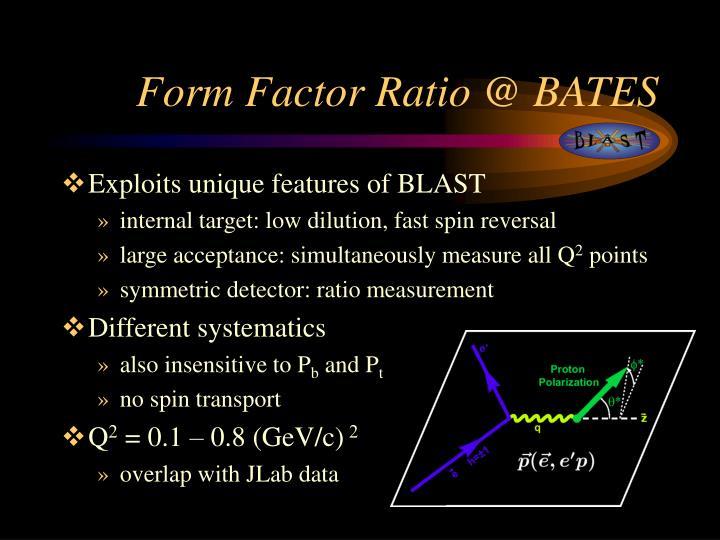 Form Factor Ratio @ BATES