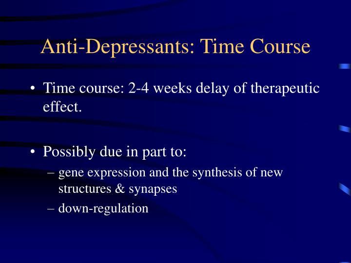 Anti-Depressants: Time Course