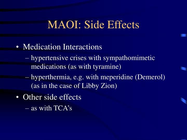 MAOI: Side Effects