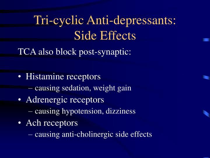 Tri-cyclic Anti-depressants: