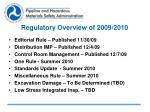 regulatory overview of 2009 2010