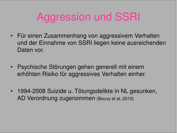 Aggression und SSRI