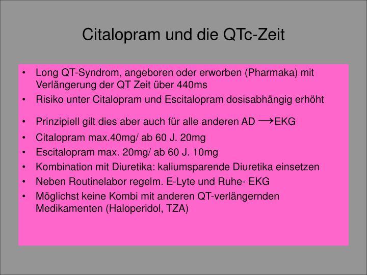 Citalopram und die QTc-Zeit