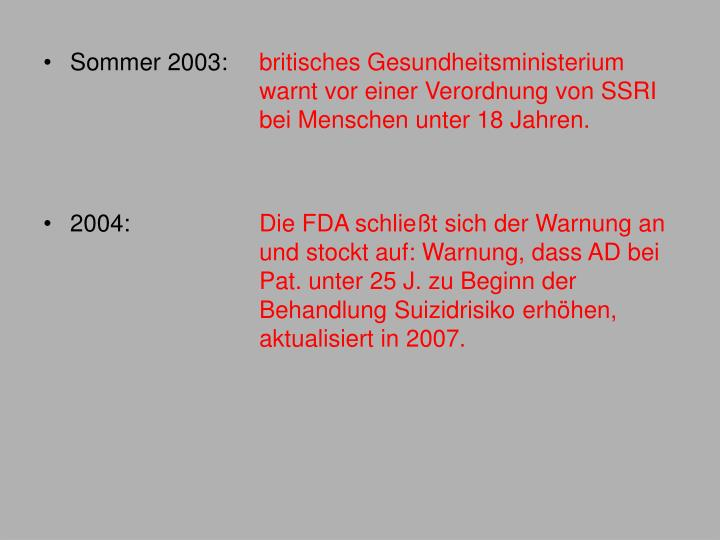 Sommer 2003: