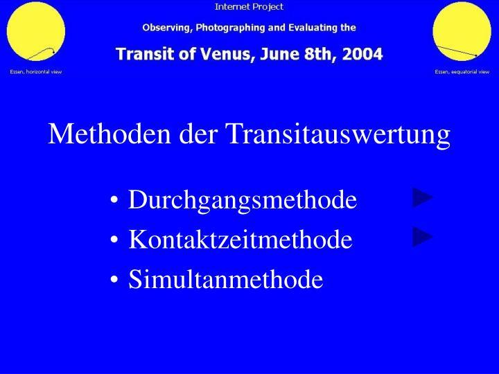 Methoden der Transitauswertung