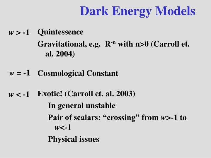 Dark Energy Models