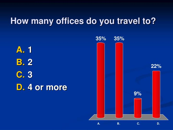 How many offices do you travel to