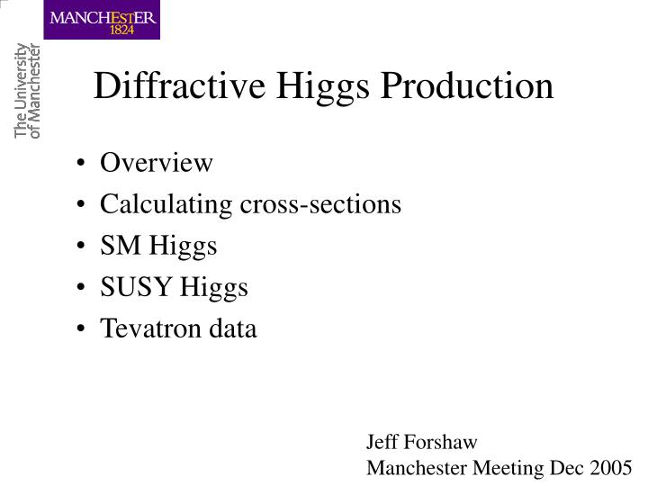 Diffractive higgs production