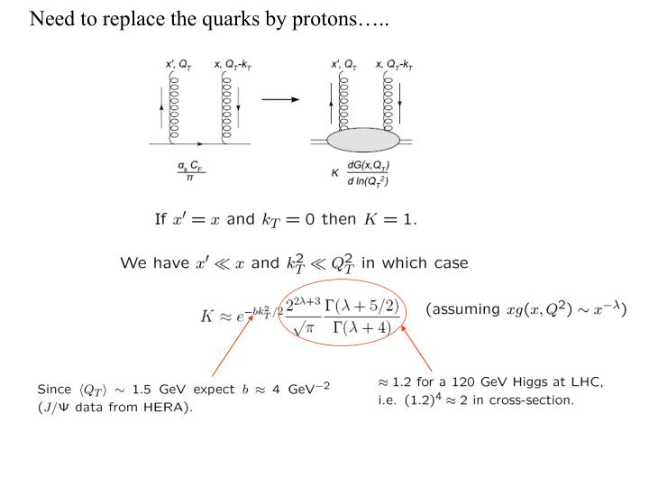 Need to replace the quarks by protons…..