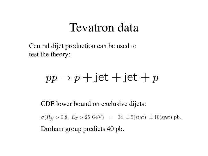 Tevatron data