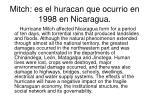 mitch es el huracan que ocurrio en 1998 en nicaragua