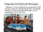 preguntas de historia de nicaragua
