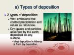 a types of deposition