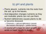 b ph and plants