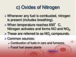 c oxides of nitrogen