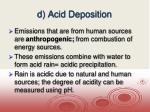 d acid deposition