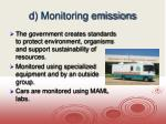 d monitoring emissions