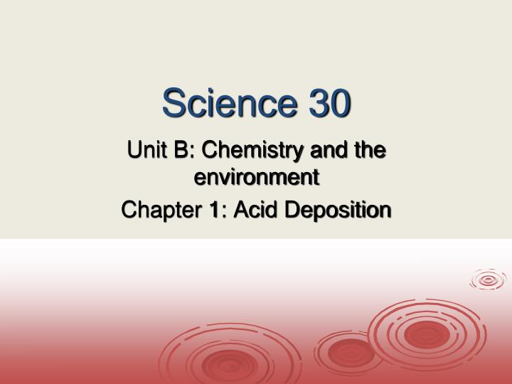science 30