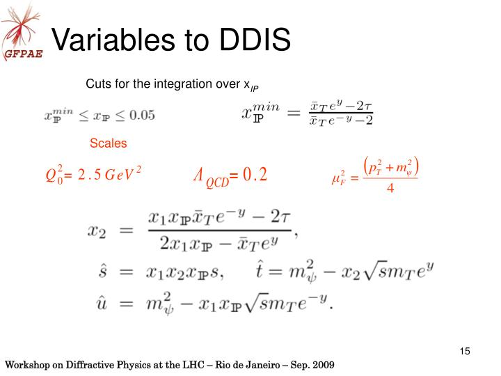 Variables to DDIS