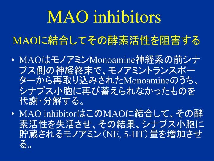 MAO inhibitors