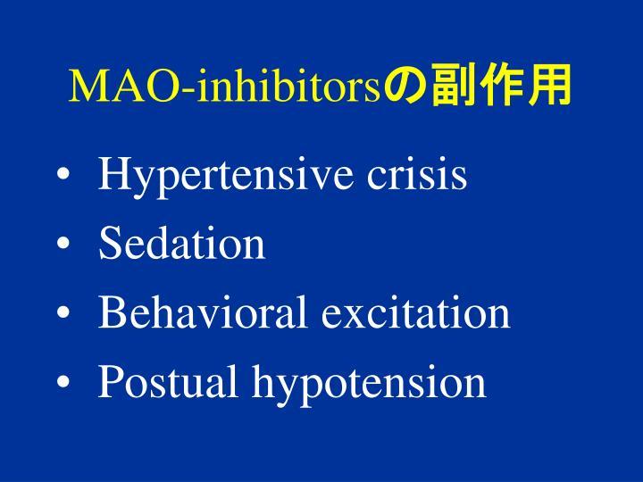 MAO-inhibitors