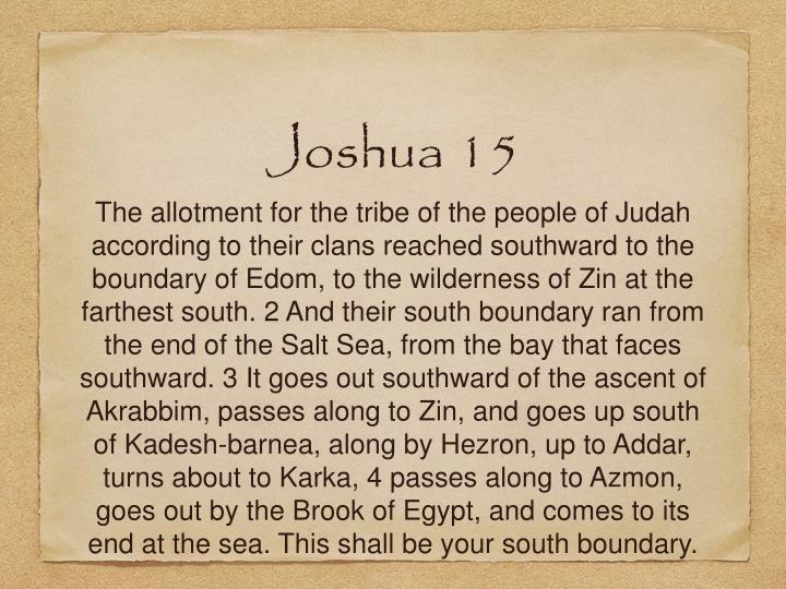 Joshua 15