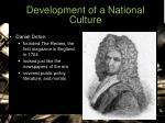 development of a national culture