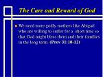 the care and reward of god13