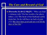 the care and reward of god14