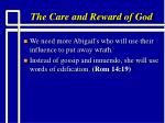 the care and reward of god19