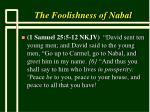 the foolishness of nabal6