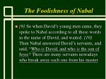 the foolishness of nabal8