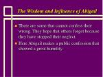 the wisdom and influence of abigail10