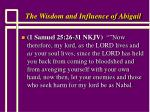 the wisdom and influence of abigail12