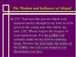 the wisdom and influence of abigail13