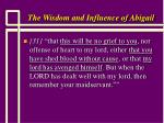 the wisdom and influence of abigail15
