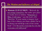the wisdom and influence of abigail17