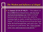 the wisdom and influence of abigail21