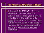 the wisdom and influence of abigail7