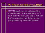 the wisdom and influence of abigail8