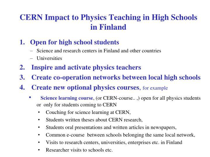 CERN Impact to Physics