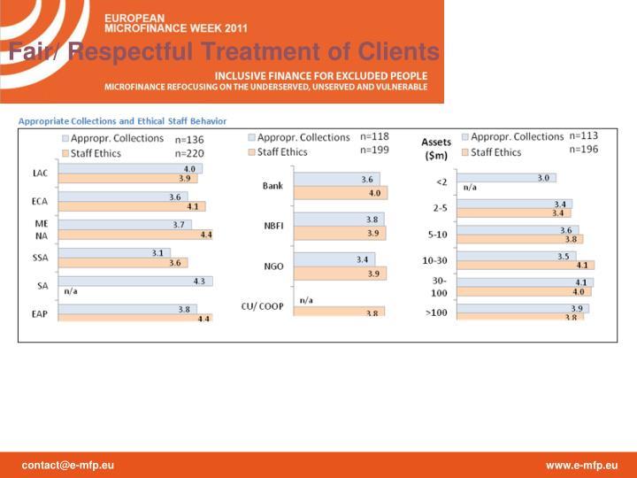 Fair/ Respectful Treatment of Clients