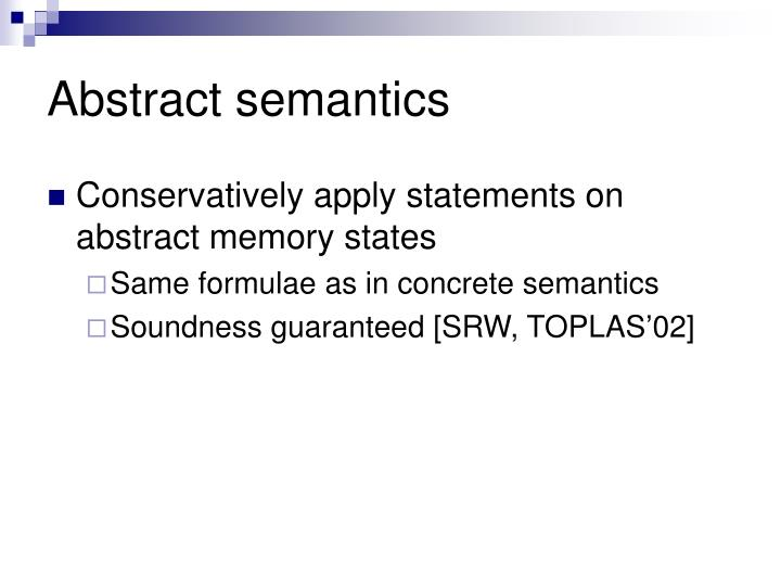 Abstract semantics
