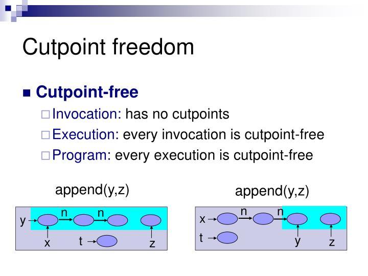 Cutpoint freedom