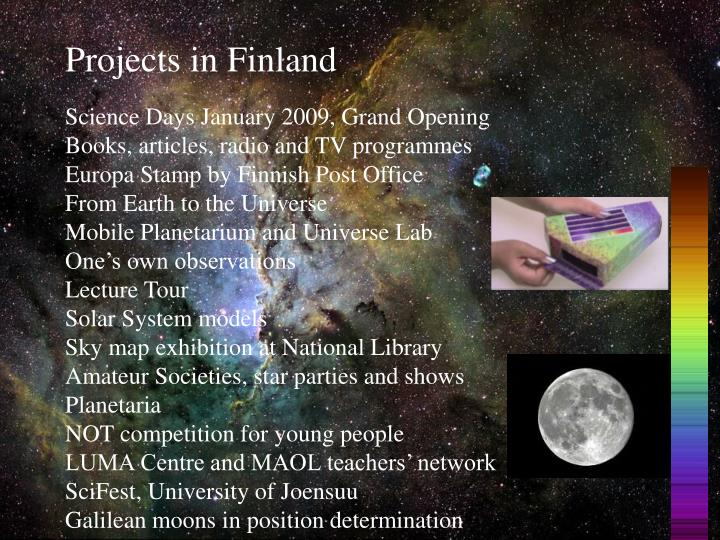 Projects in Finland